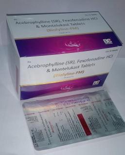 BIOFYLINE-FM TABLET (Acebrophylline 200 mg +Fexofenadine 120mg. + Montelukast Sodium 10 mg)
